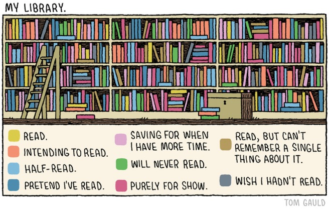 Tom Gauld: My Library (http://www.tomgauld.com/)