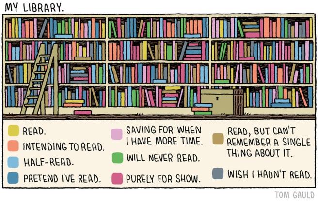 Tom Gauld: My Library (http://www.tomgauld.com/)